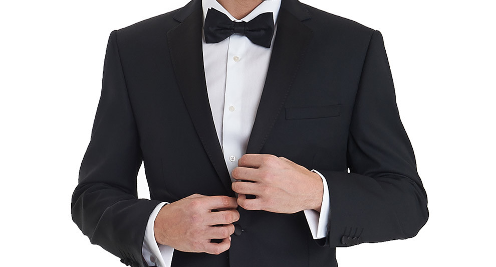 Ike Behar Tuxedo Notch Lapel Charcoal