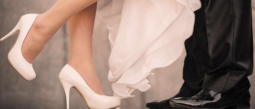 Bride and Groom Feet Together